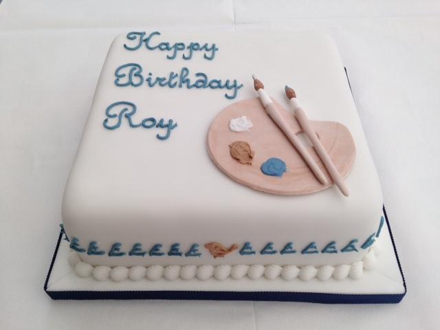 85th Birthday Cake For An Amateur Artist