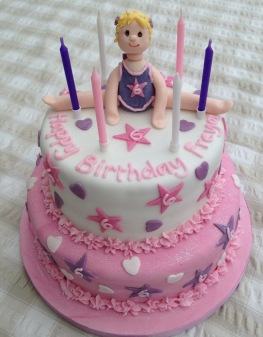Incredible Birthday Cake For A 6 Year Old Gymnast Cakes On Sea Personalised Birthday Cards Paralily Jamesorg