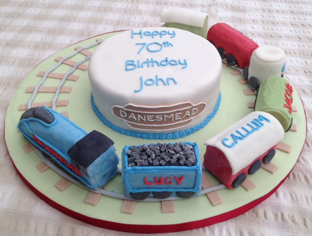 Admirable Birthday Cake For A Model Railway Enthusiast Cakes On Sea Personalised Birthday Cards Paralily Jamesorg