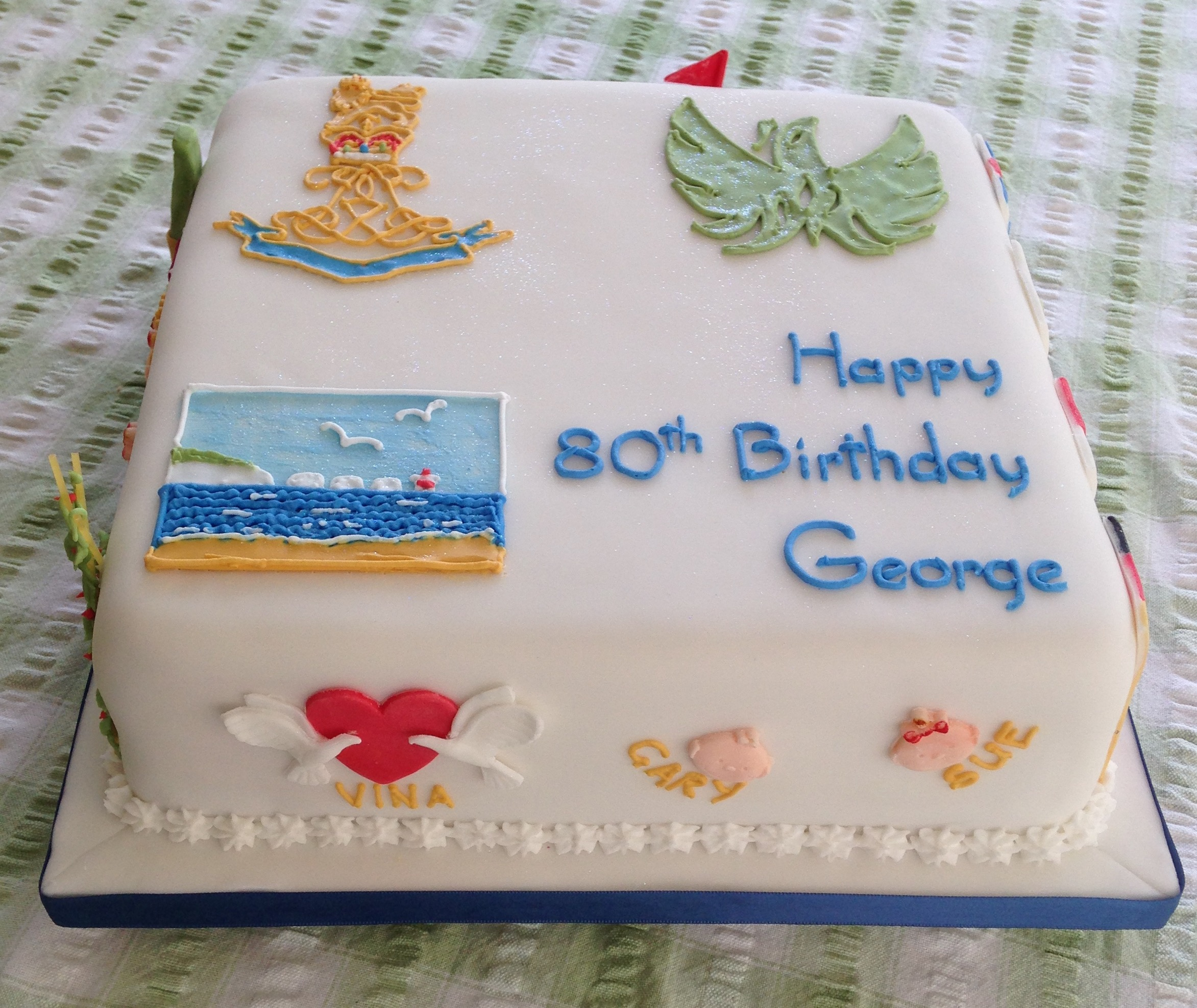 80th Birthday Cake To Reflect A Full Life Cakes On Sea