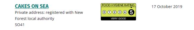 hygeine rating
